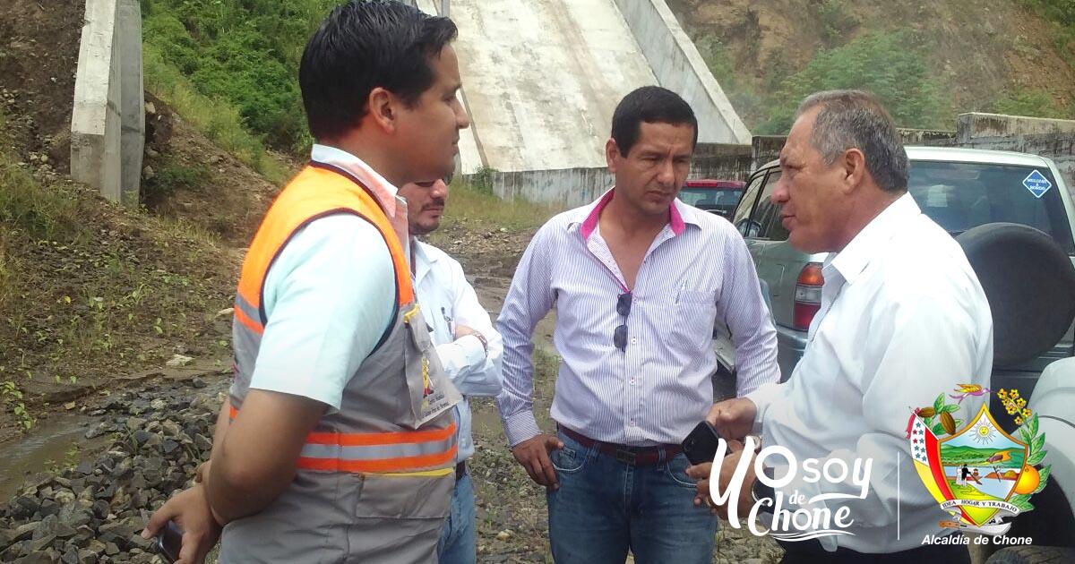 Inspección funcionamiento represa Chone
