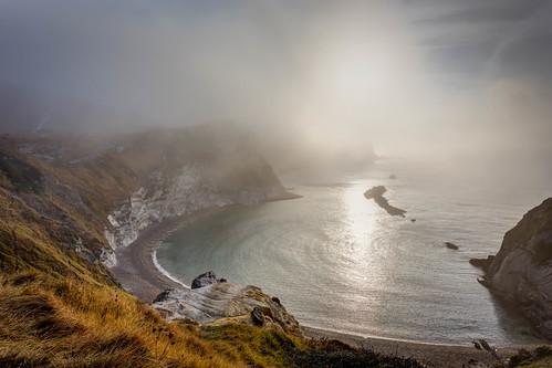 sea mist seascape sunrise photography dawn golden dorset covers poole durdledoor jurassiccoast pjackson harbourviewphotography