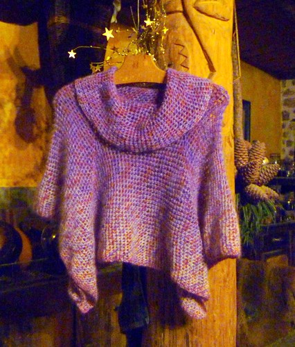 Little crochet cowel-neck top