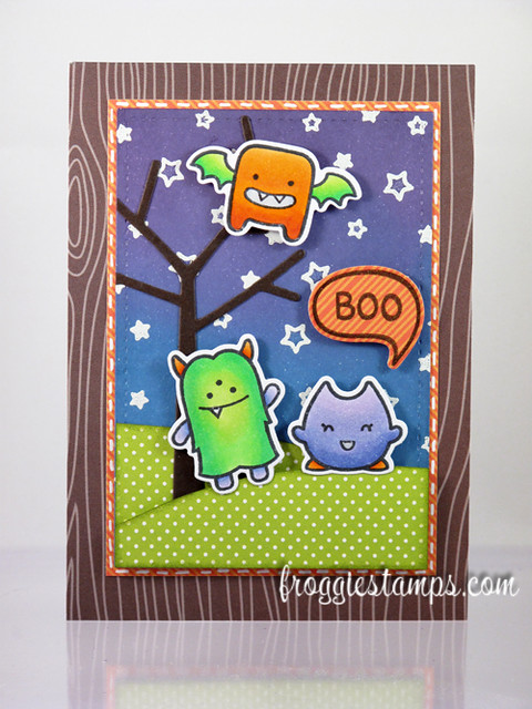 A Little Boo Card - Copics