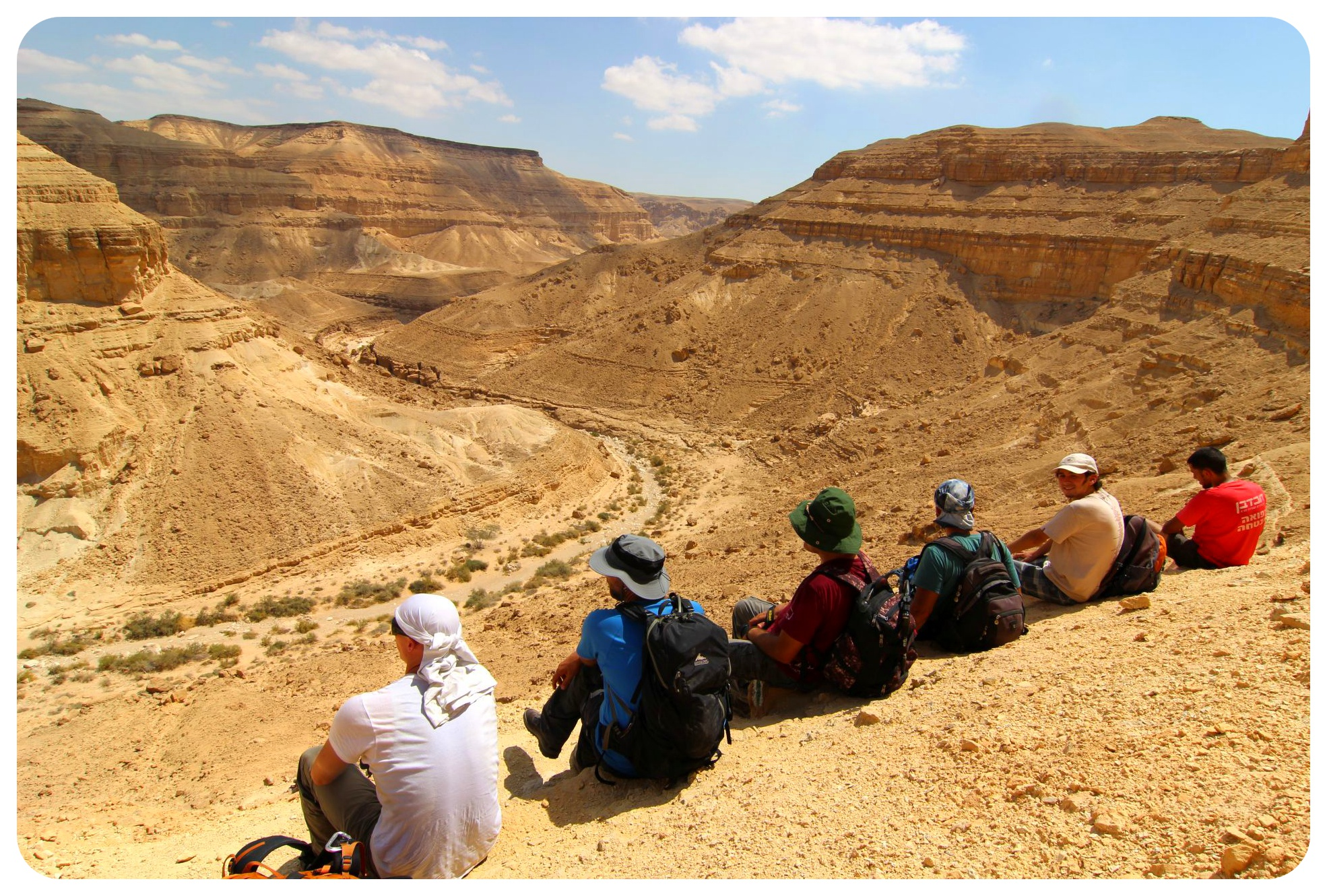 israel national trail hikers