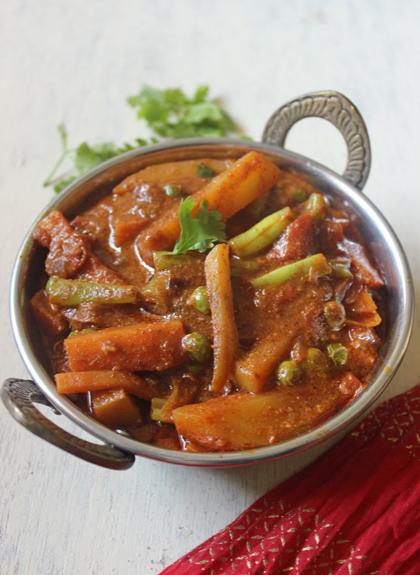 Kolhapuri Vegetable Curry