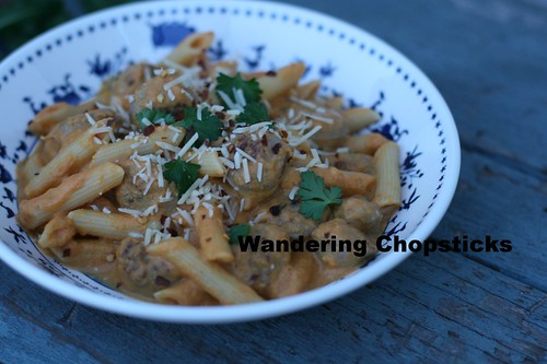 Pumpkin Cream Penne with Italian Sausage 8