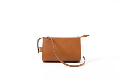 orange(0.0), handbag(0.0), brand(0.0), bag(1.0), shoulder bag(1.0), brown(1.0), messenger bag(1.0), leather(1.0), beige(1.0), tan(1.0),