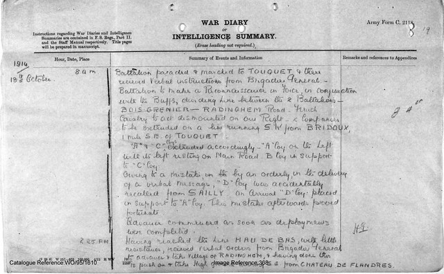 5 Y and L 2nd Battalion Aug Oct 1914