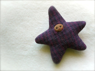 Purple Plaid STAR: brown