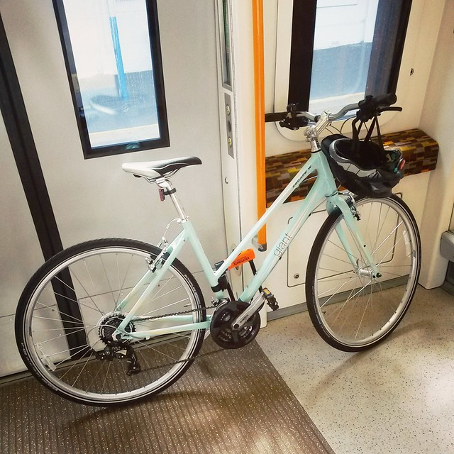 A new bike on a London train