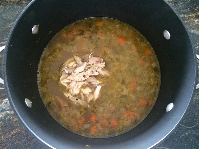 Chicken Added to Soup