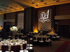 Amber/Champagne Lighting - Monogram Projection - Texas State Alumni Gala