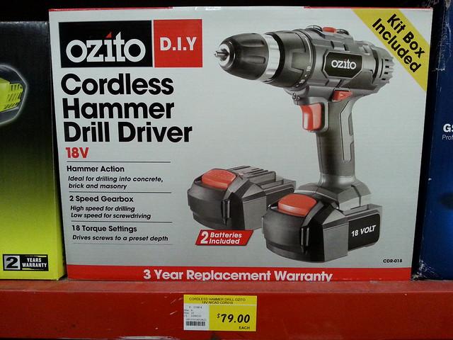 how to use hammer drill ozito