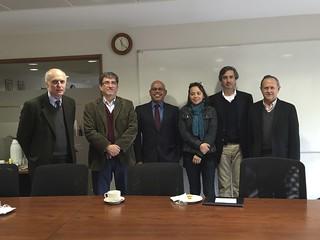 With faculty at PUC: Dr. Cristian Cox Donoso (Dean), Dr. Ignacio Jara, yours truly, Dr. Maili Ow, Dr. Alvaro Salinas & Dr. Pedro Hepp