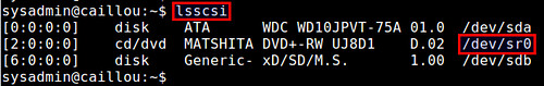 how to detect a dvd on linux system