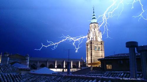 Tormenta sobre Toledo la tarde del 11 de octubre de 2014, por Nano Lázaro
