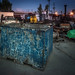 blue dumpster at dawn by jody9
