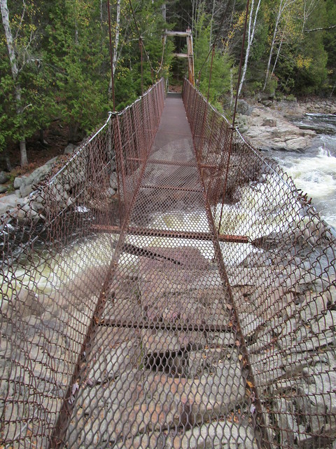 Cold River suspension bridge