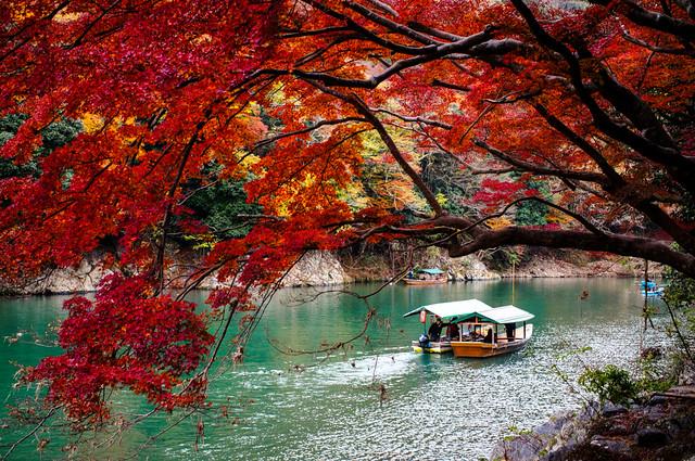 Arashiyama (嵐山) in Autumn in Kyoto (京都) Japan