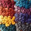 For 20g, 5 skein mini packs (~390 yards per pack, ~78 yards/color) fingering weight yarn, eponymous sock