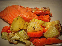 Roasted vegetables with rosemary and west coast te…