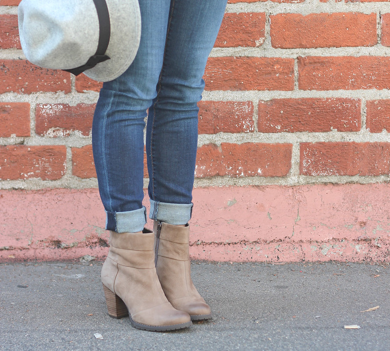 Gray Wool Hat and Clarks Booties-10
