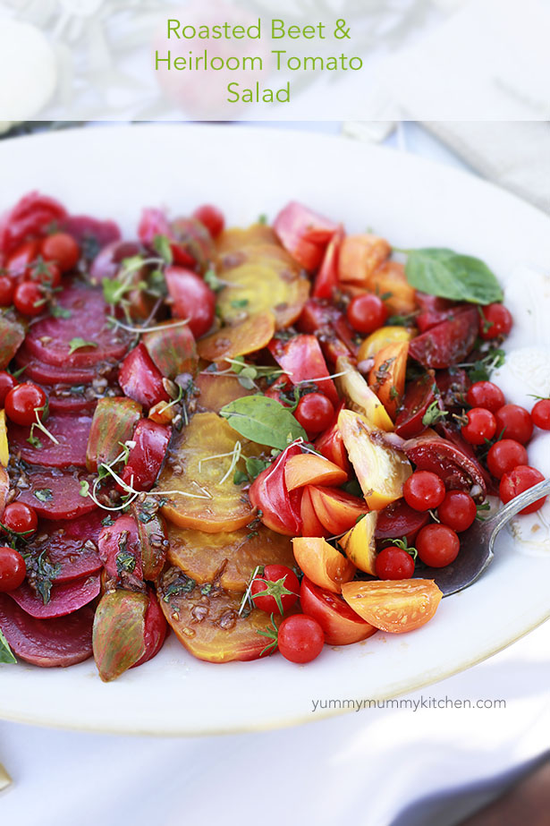 Roasted Beet & Heirloom Tomato Salad | Yummy Mummy Kitchen | A Vibrant ...