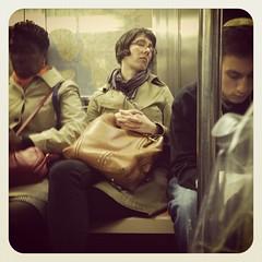 Monday night 3 train. #nycsubwayportraits #nyc #train #subway #publictransportation #commute #3train