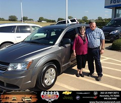 Congratulations to Donnie  and Teresa Byas on your #Dodge #Journey purchase from Everyone at Four Stars Auto Ranch! #NewCar