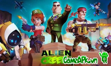 Alien Creeps TD v1.11.1 hack full vàng & kim cương cho Android