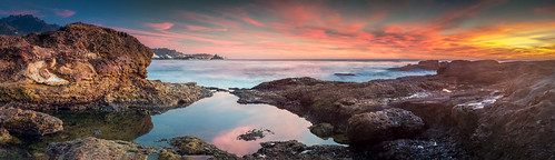 ocean pink blue sunset red pool yellow point tide carmel lobos tidepool califorina panarama