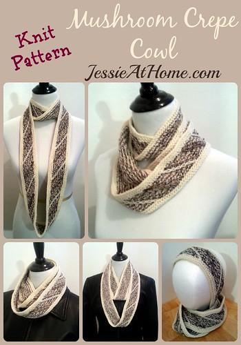 Mushroom Crepe Cowl Free Knit Pattern