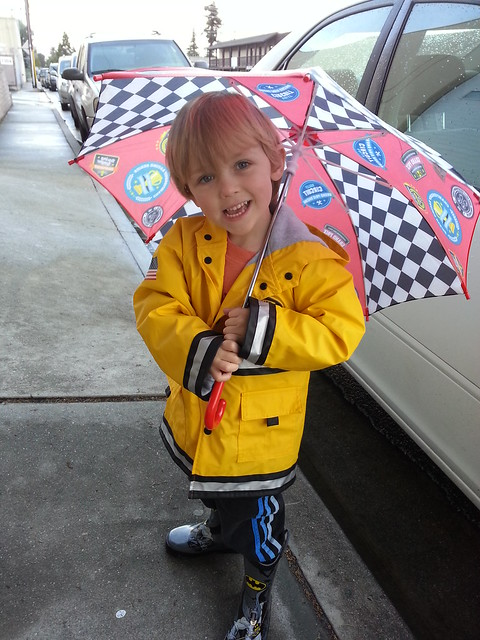 Adorable rain kid!
