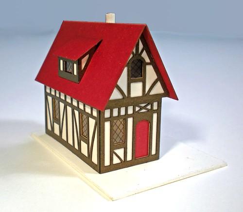Miniature Paper House - Tudor-Style
