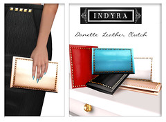{Indyra} Danette Leather clutches