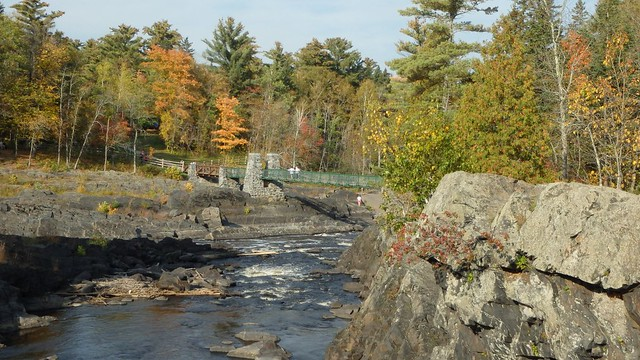 swinging bridge at Jay Cooke State Park