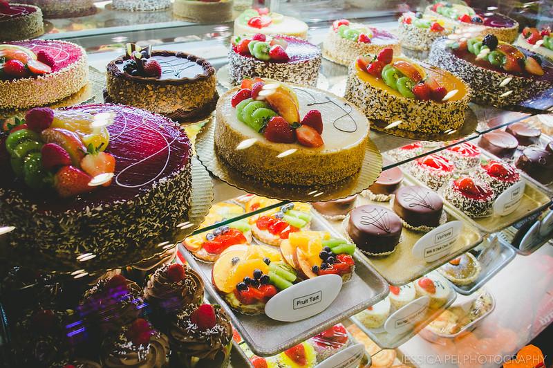 Patries and Cakes in Artopolis Greek Bakery Chicago