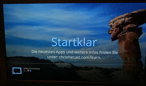 20 - Google Chromecast - Anzeige Fernseher fertig eingerichtet
