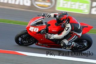 Ben Broadway, Ducati Tri Options, Silverstone.