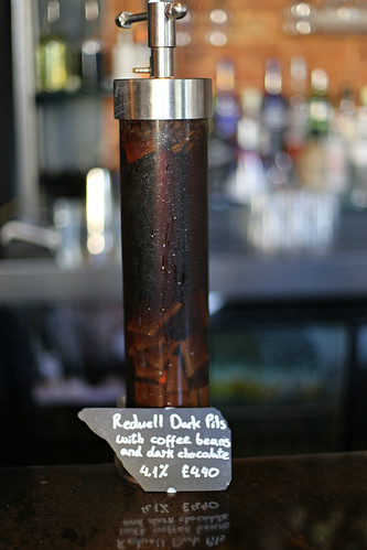 Redwell Dark Pils infused with coffee beans and chocolate