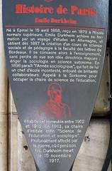 Photo of Émile Durkheim brown plaque