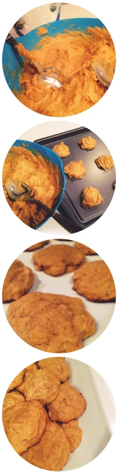 soft-baked pumpkin cookies