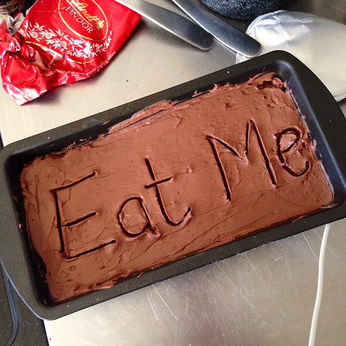 Eat Me. Wise words.  Double chocolate cheesecake. Food. Dessert.
