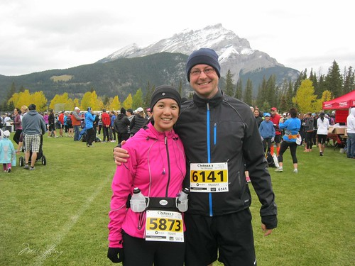 Dan and Mei at the start/finish area of Melissa's Road Race
