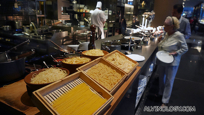 Live pasta station