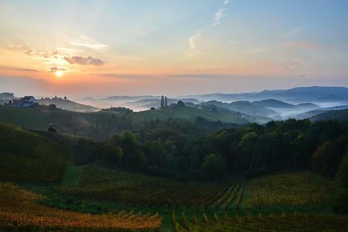 light sunrise landscape austria nikon steiermark styria