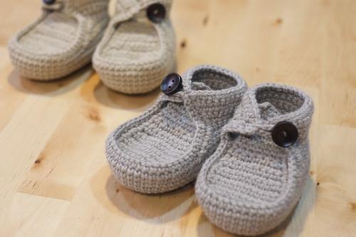 毛線編織寶寶鞋~帆船鞋
