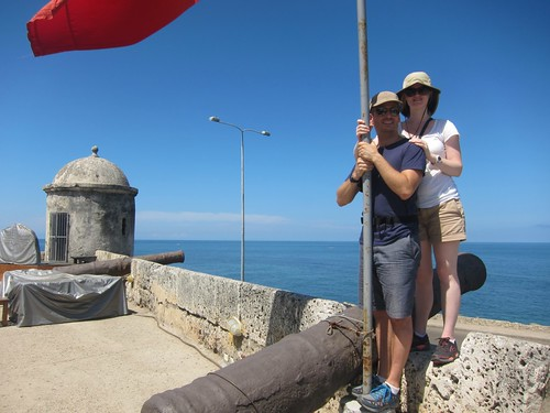 On the fake tour of Cartagena