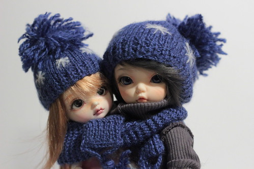 A Doll a Day-4. Hats and scarfs