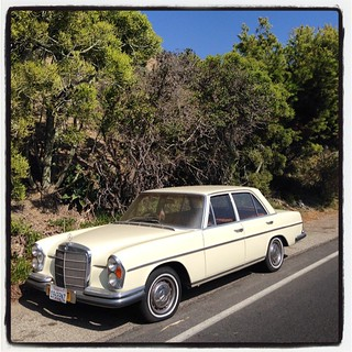 I bought it to tow the #airstream I'm going to buy. #mercedesbenz #280S #malibu  #airstreamdc2cali