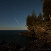 Draconid Meteor over Cave Point (10.11.2014) by Like The Ocean