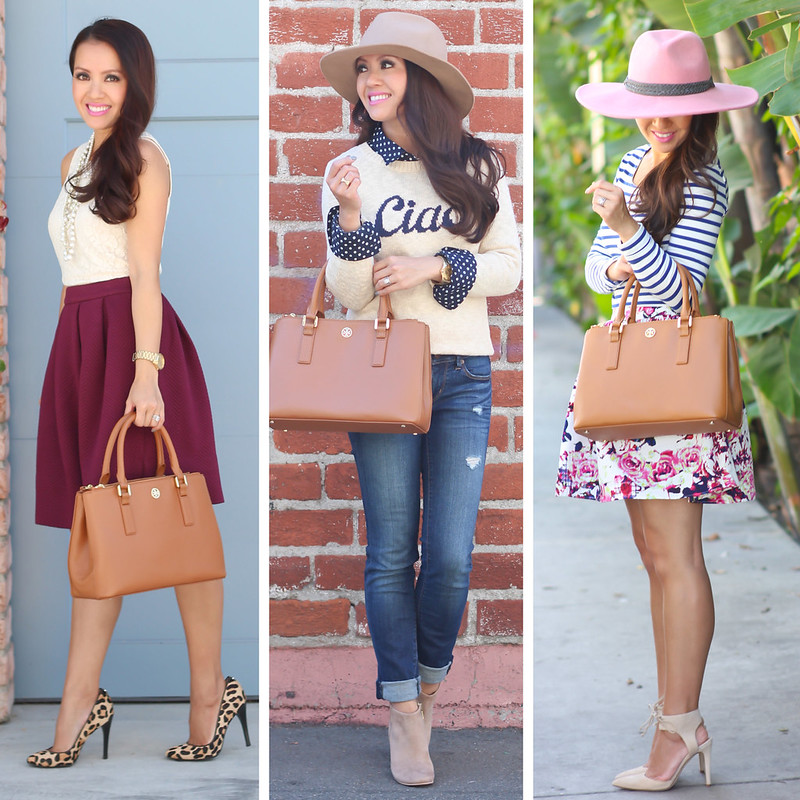Tory Burch Mini Robinson Tote Outfits