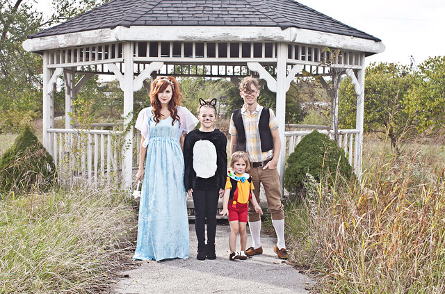 Our Pinocchio Themed Family Costume
